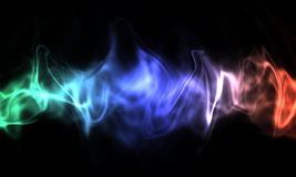 Smoke isolated on black background. Colored smoke isolated on black background Stock Photography