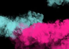 Free Smoke Isolated On A Black Background. Blue And Pink Clouds Template. Background From The Smoke Of Vape Royalty Free Stock Photography - 172539937