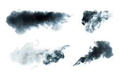 Smoke isolated on white. Collection of smoke isolated on white Royalty Free Stock Image