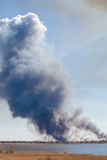 Smoke from the large fire. Stock Images