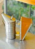 Smoke machine for beekeeping. Royalty Free Stock Photos