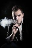Smoke man Stock Photo