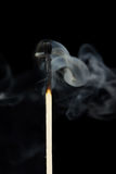 Smoke from a match Royalty Free Stock Photography