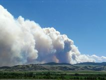 Smoke from a Monata wildfire June 2013 Stock Images