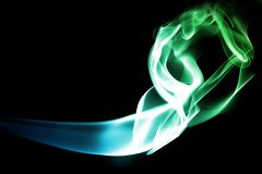 Smoke motion. Abstract smoke wave isolated on black  background Royalty Free Stock Images