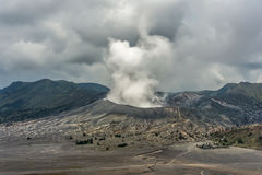 Smoke on  Mount Bromo. Indonesia Royalty Free Stock Photos