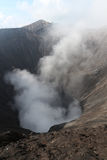 Smoke from Mount Bromo, Indonesia. Smoke from Mount Bromo, the active volcano in Indonesia stock photo