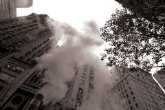 Smoke in New York Stock Image