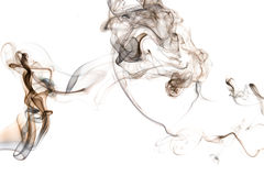 Smoke number three. Th photo show the abstract - smoke on the white Royalty Free Stock Photos