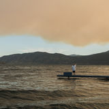 Smoke in Okanagan valley. Smoke from the Lytton forest fire Royalty Free Stock Photo