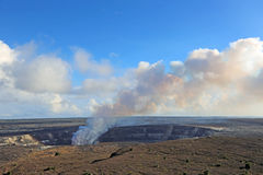 Smoke over Halemaumau Crater Royalty Free Stock Images