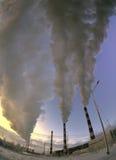 Smoke over  thermal power plants. Stock Image
