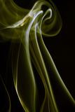 Smoke pattern. A smoke pattern against black background Royalty Free Stock Photos