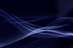 Smoke pattern. A bluse silky smoke pattern against black Royalty Free Stock Photo