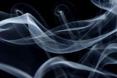 Smoke pattern. A silky smoke pattern against black Royalty Free Stock Image
