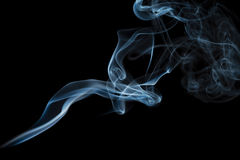 Smoke pattern. An interesting smoke spiral pattern Stock Photos