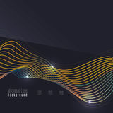 Smoke pattern on dark background. Colorful blending lines with shiny effects, business or hi-tech minimal message presentation template Stock Photo