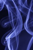 Smoke patterns. Beautiful blue silky smoke pattern Stock Photo