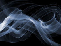 Smoke. From candle on black background Royalty Free Stock Photography
