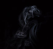 Smoke. Photo of smoke on short exposures with flash to get the effect of mysticism Royalty Free Stock Images