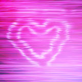 Smoke pink heart. Abstract pink background with horizontal lines and smoke heart Stock Photos