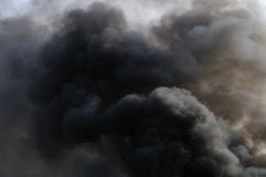 SMOKE PLUME. Rising smoke plume from an explosion. pollution Royalty Free Stock Photos