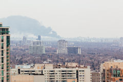 Smoke Plume in the Distance Stock Photo