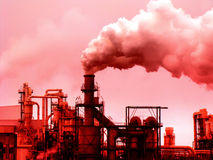 Smoke pollution. Industrial Smoke Pollution - Global Warming Royalty Free Stock Images