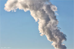 Smoke pollution Royalty Free Stock Image