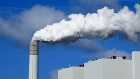 Smoke pollution of a power plant