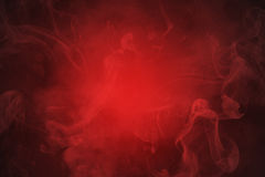 Smoke red abstract background Stock Images