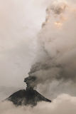 Smoke Rises From Tungurahua Volcano. February 2016, Powerful Explosion, South America Stock Photography