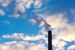 smoke rising from a stack royalty free stock images