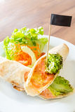 Smoke Salmon Wrap Stock Photography