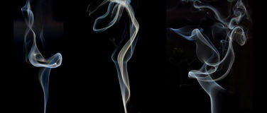 Smoke samples Stock Images