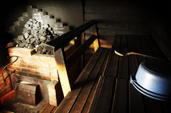 Smoke sauna Royalty Free Stock Photography