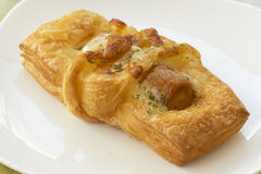 Smoke sausage Danish pastries Stock Photography