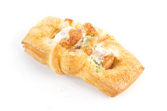 Smoke sausage Danish pastries Royalty Free Stock Photography