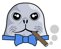 Smoke seal Stock Photo