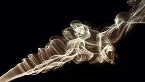 Smoke formed like seashell. Best image ever stock image