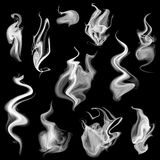 Smoke set. Vector illustration of isolated smoke for design Stock Images