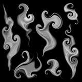 Smoke set. Vector set of isolated smoke and smoky patterns Stock Photography