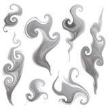 Smoke set. Vector set of isolated smoke and smoky patterns Stock Photo