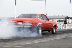 Smoke show at the starting line Stock Photography