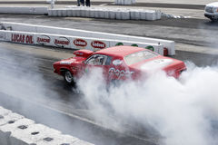 Smoke show on the track Stock Photography