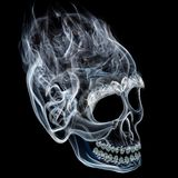 Smoke skull Stock Photo