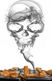 Smoke skull Stock Photography