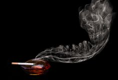 Smoke skull Royalty Free Stock Photography