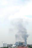 Smoke in the sky Royalty Free Stock Photos