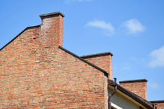 Smoke stack on a building Royalty Free Stock Photo